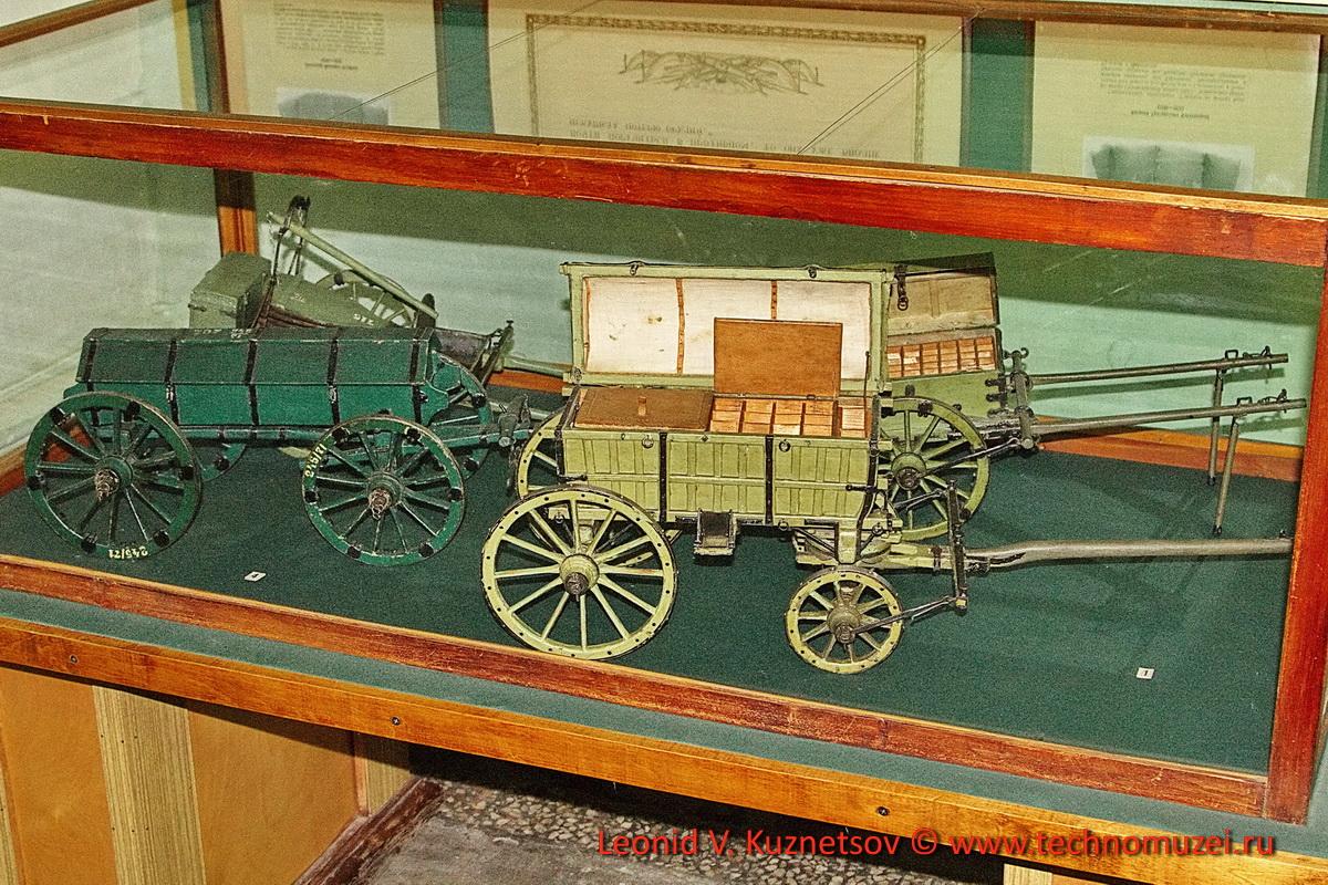 Модель артиллерийского обоза XIX века в Артиллерийском музее