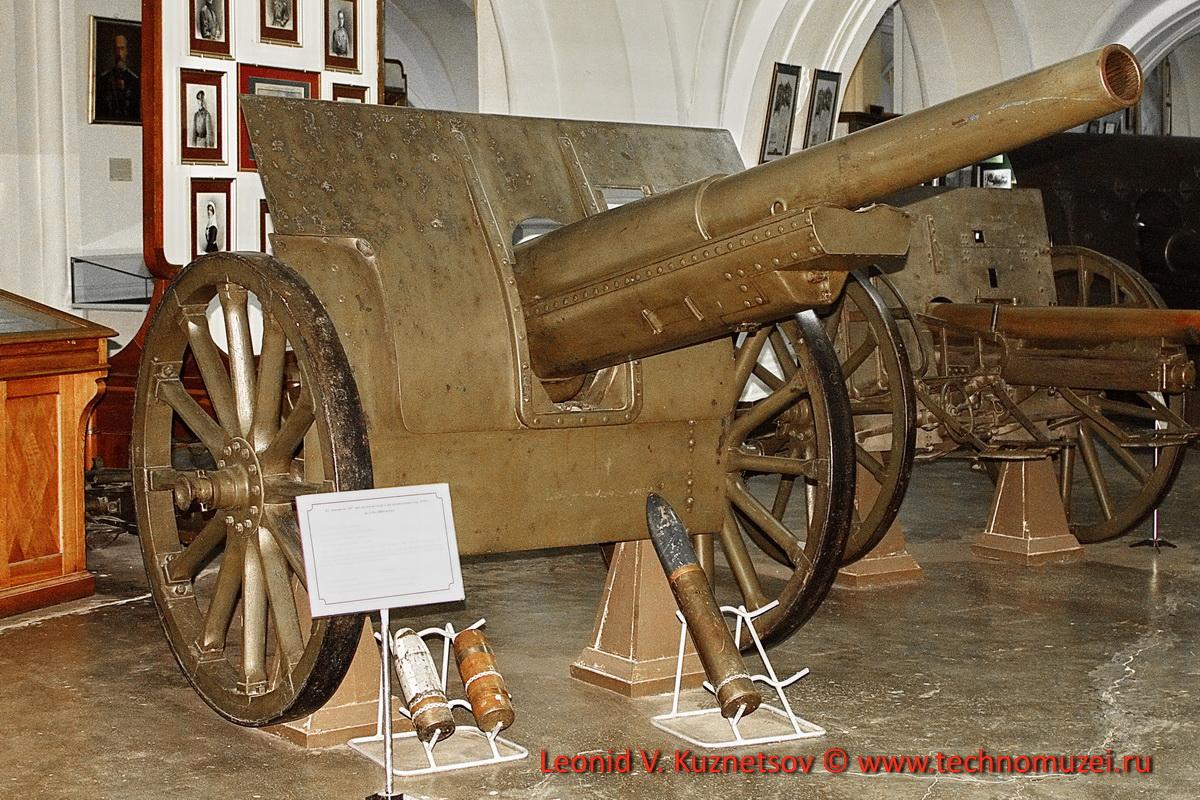 107-мм скорострельная пушка системы Шнейдера в Артиллерийском музее