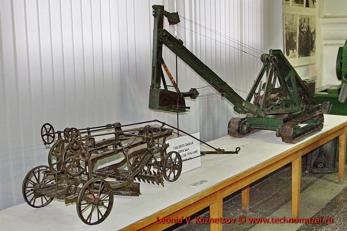 Модели землеройных машин 1930-х годов в Артиллерийском музее