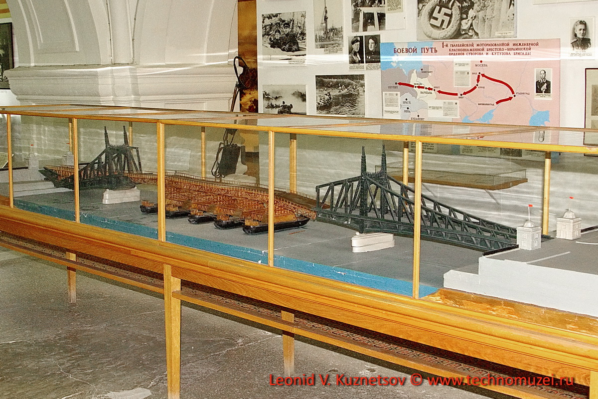 Модель восстановленного моста Франца-Иосифа через Дунай в Будапеште в Артиллерийском музее