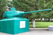 Памятник башня танка Т-34-85 в пгт Чернь