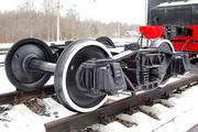 Тележка товарного вагона Мемориал у станции Ладожское озеро