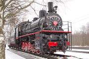 памятик паровозу Эш 4375 на станции Ладожское озеро