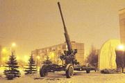 """52-К зенитная пушка памятник на шоссе """"Дорога жизни"""""""