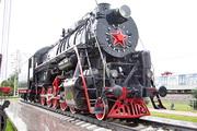 памятик паровозу Л-3348 в Щербинке