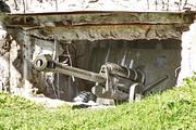 ЗиС-3 пушка памятник в ДОТЕ на мемориале Ильинские рубежи