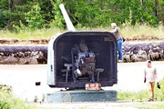 Б-13 пушка памятник в форте Красная Горка