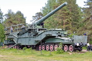 ТМ-3-12 железнодорожная пушка памятник в форте Красная Горка