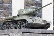 Памятник танку Т-34-85 у Центрального музея Вооружённых сил