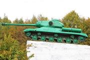 Памятник танк ИС-2 в городе Одинок