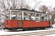Памятник блокадному трамваю МС-2 в Санкт-Петербурге
