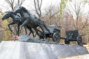 """ЗиС-3 пушка памятник """"По дорогам войны"""" на Поклонной горе"""