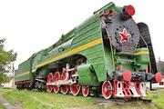 памятик паровозу П36-0147 в Шарье