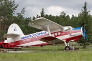 самолёт Ан-2 Авиалесоохрана на выставке техники в городском парке в Шарье