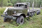 лесовозный автопоезд ЗиЛ-157 на выставке техники в Шарье