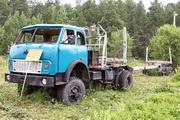 лесовозный автопоезд МАЗ-509 на выставке техники в Шарье
