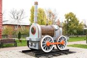 макет паровоза Черепановых в Венёве