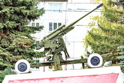 52-К зенитная пушка памятник в Венёве
