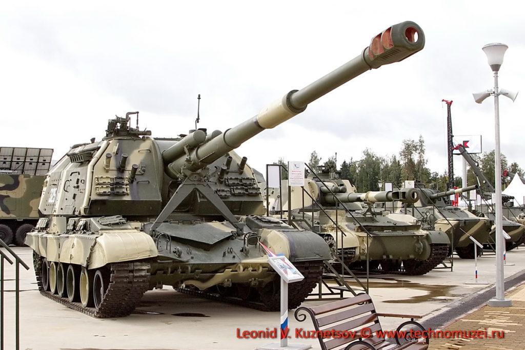 Самоходная артиллерия в Парке Патриот