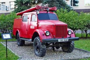 Пожарная цистерна ПМГ-19 АЦ-20(63) модель 19 в музее пожарной техники в Иваново