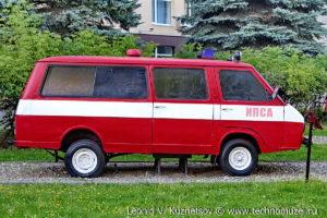 пожарный штабной автомобиль РАФ-22034 в музее пожарной техники в Иваново