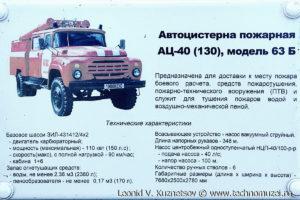 Пожарная цистерна АЦ-40(130) модель 63Б в музее пожарной техники в Иваново