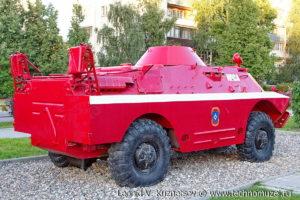 Пожарная БРДМ-2 в музее пожарной техники в Иваново