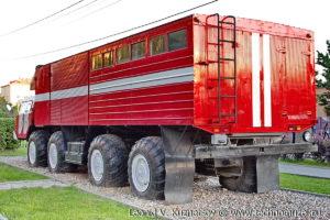 Аварийно-спасательный автомобиль МАЗ-542М в музее пожарной техники в Иваново