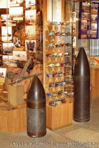 Снаряды крупнокалиберных береговых орудий Музей Вооруженных Сил в Москве