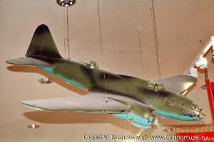 Модель дальнего бомбардировщика ДБ-3Ф (Ил-4) Музей Вооруженных Сил в Москве