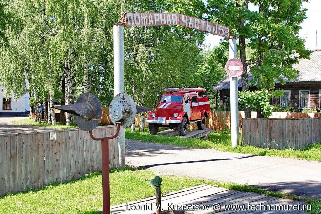 Пожарная часть 58 в поселке Ленинское (Шабалино)