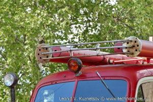 Памятник пожарной цистерне ПМГ-19 в поселке Ленинское