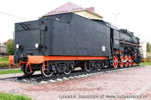Паровоз Л-3645 на Аллее железнодорожников в Веневе