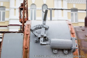 Паровоз Черепановых на Аллее железнодорожников в Веневе