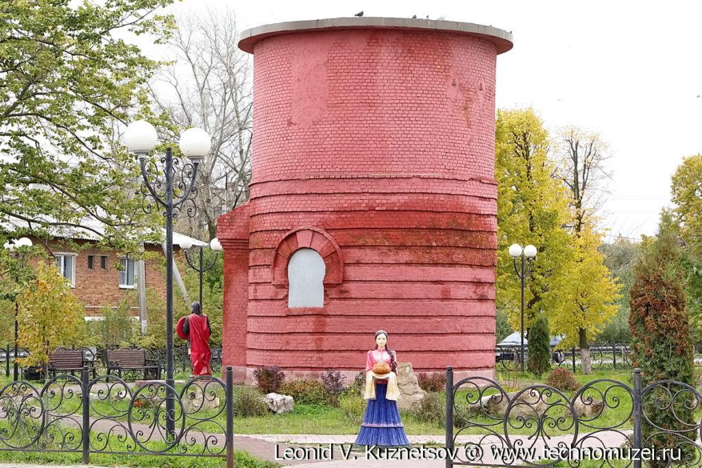 Водонапорная башня на Аллее железнодорожников в Веневе
