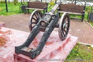 Старинная пушка на Аллее железнодорожников в Веневе