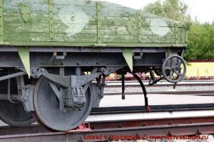 Передняя контрольная платформа бронепоезда на станции Чернь
