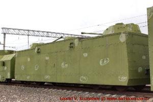 Двухорудийная бронеплощадка ПЛ-42 бронепоезда на станции Чернь