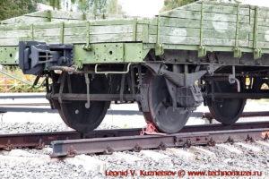 Задняя контрольная платформа бронепоезда на станции Чернь
