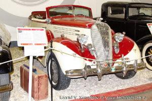 Двухдверный кабриолет Hudson 8 в музее Московский транспорт