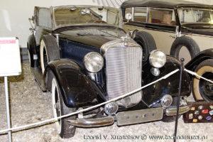 Двухдверный кабриолет Mercedes-Benz 230D в музее Московский транспорт