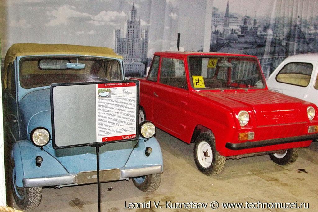 Мотоколяска С-3F в музее Московский транспорт