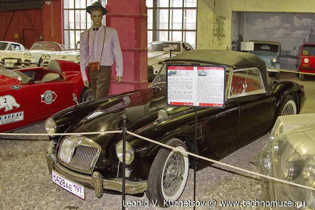 MG A 1958 года в музее Московский транспорт