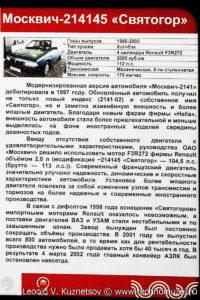 Москвич-214145 Святогор в музее Московский транспорт