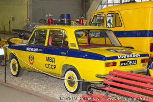 ВАЗ-2101 Жигули ГАИ из музея ГИБДД в музее Московский транспорт