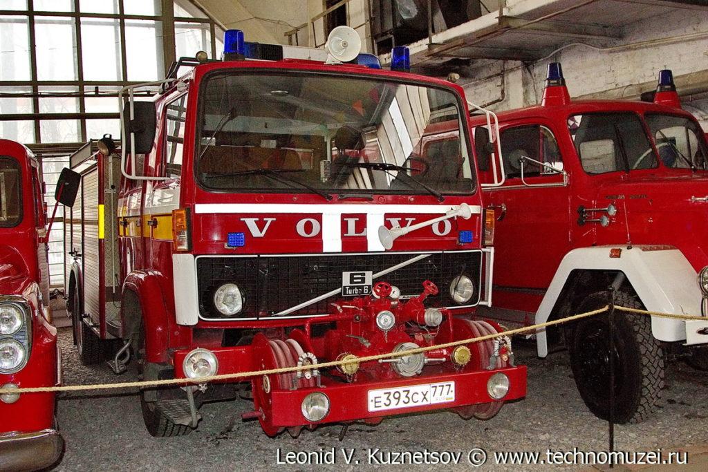 Пожарный автомобиль Volvo Turbo 6 в музее Московский транспорт
