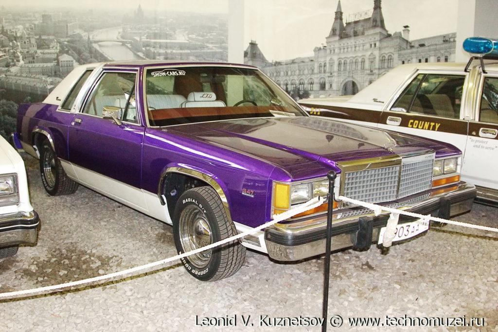 Купе Ford LTD Crown Victoria 1983 года в музее Московский транспорт