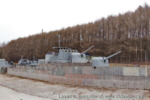 Стилизованная палуба эскадренного миноносца в Музее на Поклонной горе