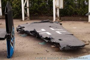 Крыло сбитого бомбардировщика Юнкерс в Музее на Поклонной горе