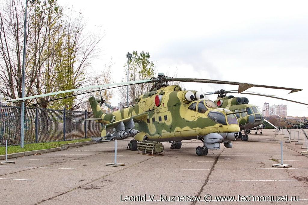 Боевой вертолет Ми-24Д в Музее на Поклонной горе